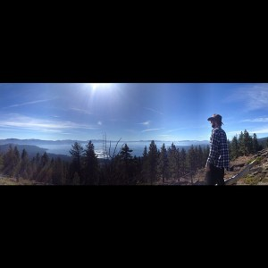 Mills enjoying the vast greatness of Lake Tahoe earlier this fall. So many days here are pure beauty