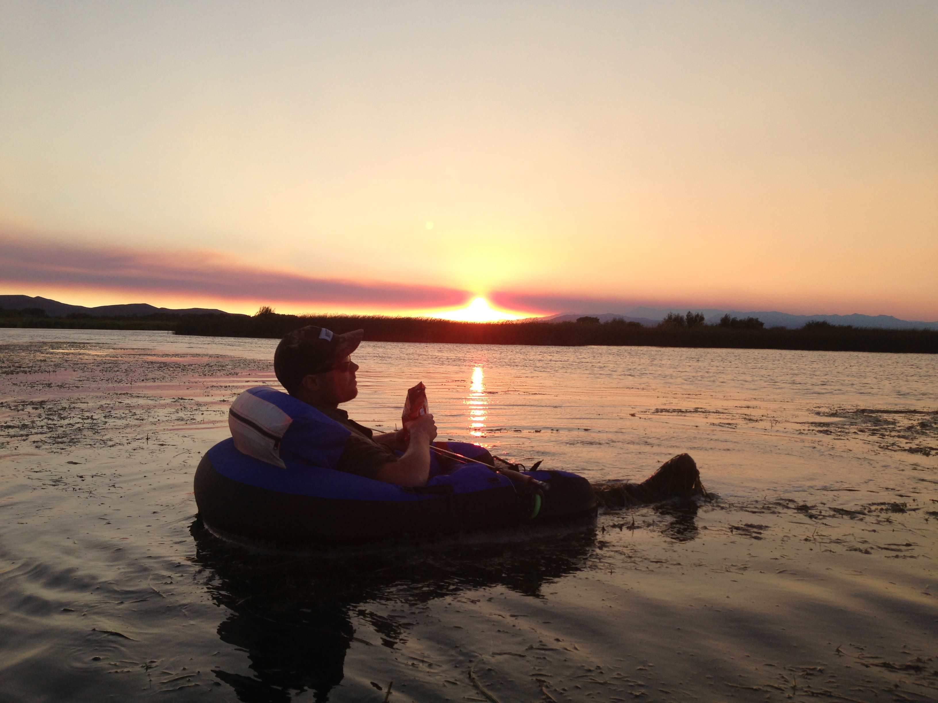 Nate Farrell enjoys the last of the light on Silver Creek