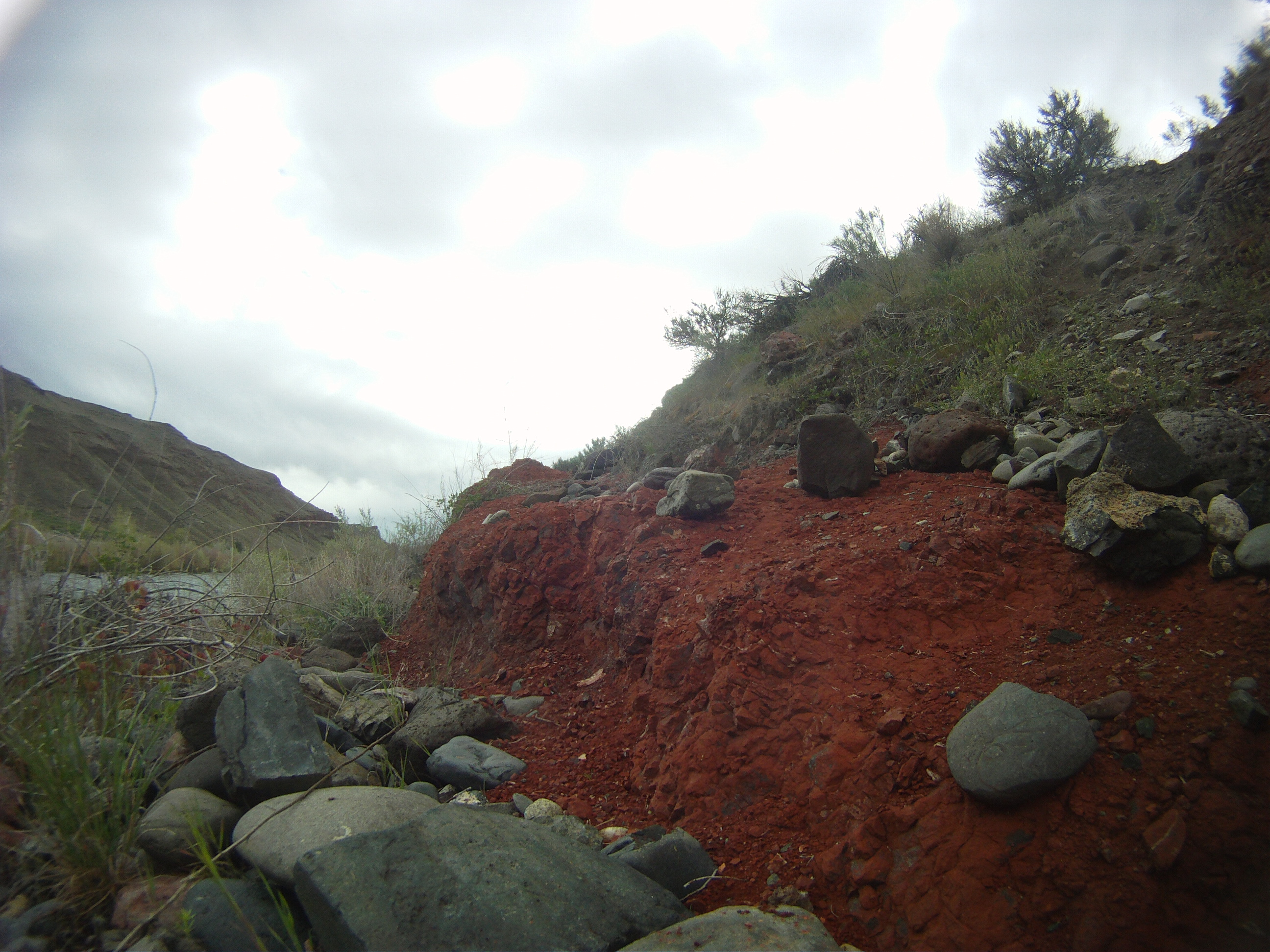 The rocky terrain had crazy colors.