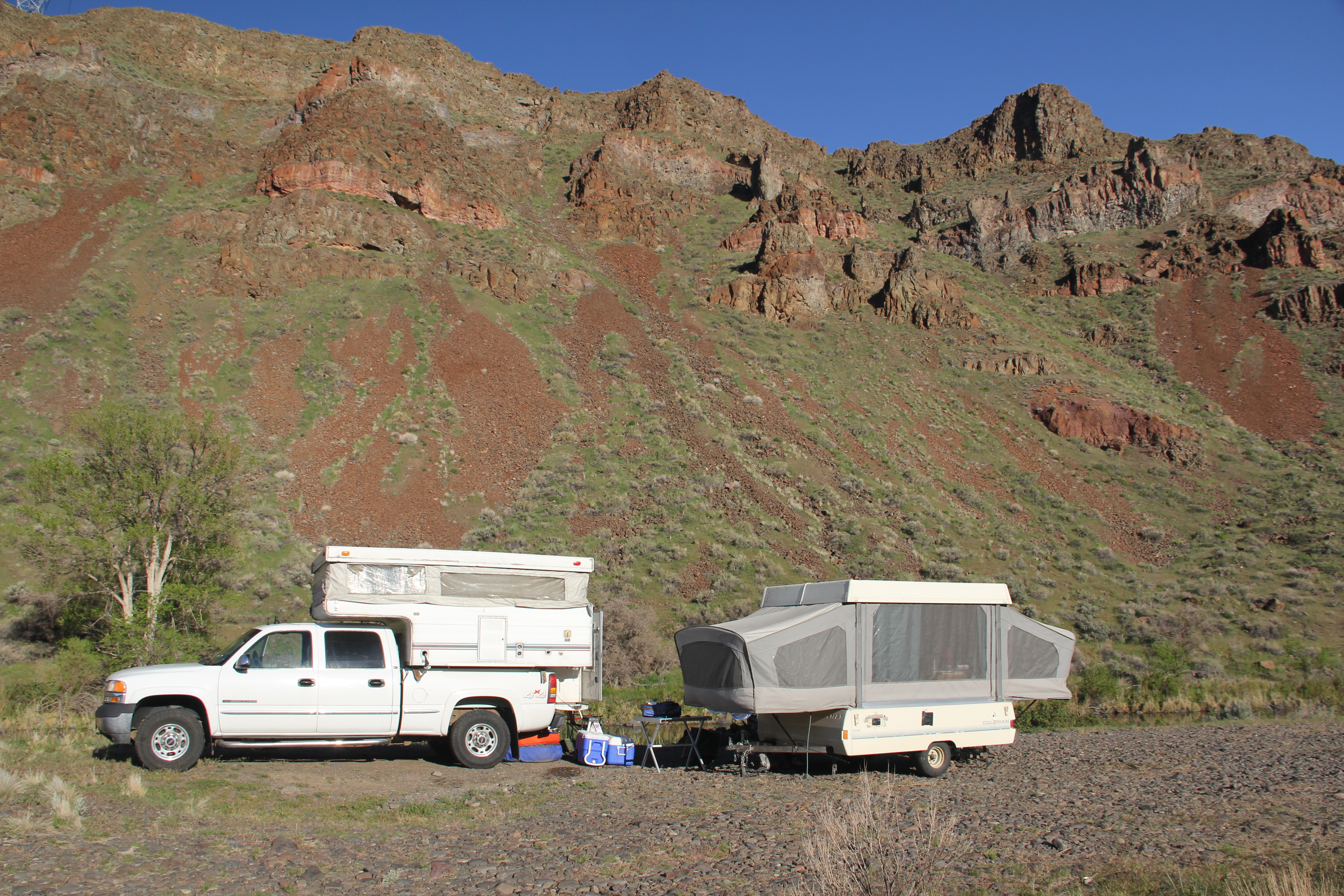 Lunker Vision camp on the Owyhee